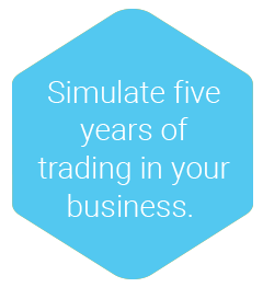 Simulate five years of trading in your business.